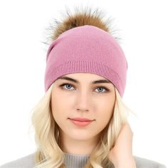 1190a6c02ea37  Xthree mink fur hats for women winter hat beanies cap for girl fur pom  poms and wool knitted hat new thick female cap