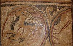 Madaba, 6th century mosaic from the Church of Virgin Mary