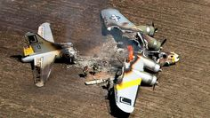 "B-17 ""Liberty Belle"" crashes near Chicago. ""This was really sad (all personnel survived), Belle's restoration had taken decades. Hope some components (wingtips, undercarriage, fin) were able to be utilised in another resto. Wonder if it would have helped to have onboard extinguishers? Vale Belle."" KB"
