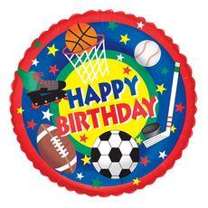 "Sports Buff Birthday - 18"" Foil Balloon #betallic"