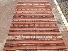 RUSTIC Turkish rug, Kilim rug, Vintage Turkish kilim rug, area rug, kilim rug, kelim rug, vintage rug, bohemian rug, Turkish rug, faded rug