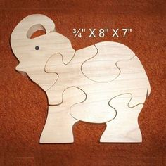 Elephant Calf - Childrens Wood Puzzle Game - New Toy - Hand-Made - Child-Safe Pallet Christmas Tree, Christmas Wood Crafts, Christmas Signs Wood, Woodworking For Kids, Woodworking Patterns, Woodworking Crafts, Wooden Animal Toys, Wood Toys, Wood Craft Patterns