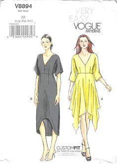 VOGUE 8894 - FROM 2013 - UNCUT - MISSES DRESS