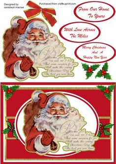 Lovely Santa and Verse on Craftsuprint - Add To Basket!