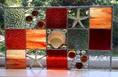 Coastal Panel - by The Meadows Stained Glass Studio