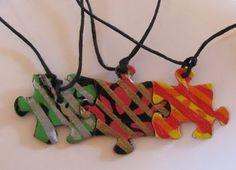 Friendship Puzzle Necklace! Sweet idea!