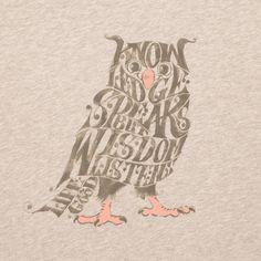 Women's Knowledge Speaks But Wisdom Listens Owl Short Sleeve Creamy Tee   Owl Tee Shirts   Life is good #lifeisgoodfallfaves