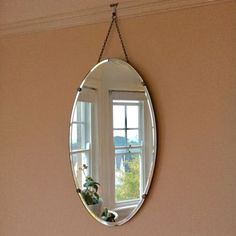 Vintage #1930's art deco #bevelled edge oval mirror, vgc! 61 cm #long, 35 cm wide,  View more on the LINK: http://www.zeppy.io/product/gb/2/232143511795/