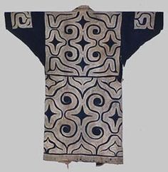 "Besides the aforementioned categories, Ainu clothes are classified as follows. Clothes called ""kaparamip"" used a large volume of white cloth for applique. ""Kaparamip"" means thin clothes."