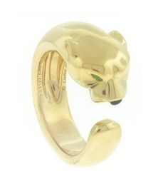 Cartier Gold Panthere Ring   From a unique collection of vintage fashion rings at https://www.1stdibs.com/jewelry/rings/fashion-rings/