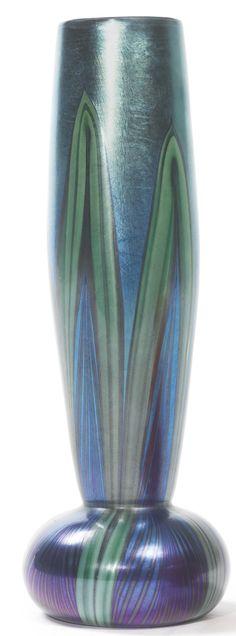 TIFFANY STUDIOS  VASE engraved 9289G L.C.Tiffany-Favrile  favrile glass  9 7/8  in. (28.1 cm) high  circa 1911