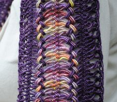 Holcomb Farm Scarf - hairpin lace scarf - would look great made out of cotton for summer.