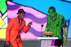 Pin for Later: See Stars Get Slimed at the Kids' Choice Awards!  Nick Cannon absolutely loved it.