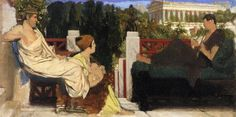 9 - Figures on the Terrace by the Acropolis - Sir Lawrence Alma-Tadema