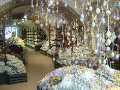 If you go to Salzburg, Austria make sure you stop by the egg shop. There are thousands of hand painted eggs for sale.