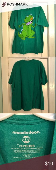 NWOT Green Reptar T-Shirt New without tags. Never worn. Reptar from Nickelodeon tv show Rugrats. Home is smoke free and cat friendly. Fifth Sun Shirts Tees - Short Sleeve