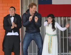 Prince Harry dancing in Chile... again | Funny Royal Family ...