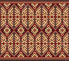 Vector illustration of ukrainian folk seamless pattern ornament Ethnic ornament Stock Vector - 26411280 Cross Stitch Borders, Cross Stitch Patterns, Hand Embroidery Designs, Embroidery Patterns, Palestinian Embroidery, Quilt Border, Tapestry Crochet, Border Design, Geometric Designs