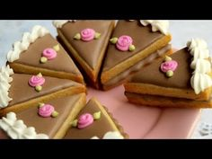 How To Make Cute Little Cake Slice Cookies! - YouTube
