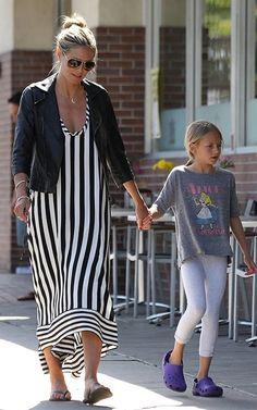 Heidi Klum with Leni Samuel