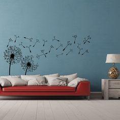 Paardebloem muur sticker  paardebloem Wall Art  paardebloem