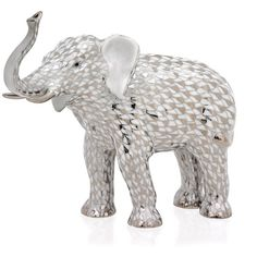 Herend Elephant Platinum Figurine ($885) ❤ liked on Polyvore featuring home, home decor, handmade home decor, chinese home decor, herend figurines, herend plates and elephant home accessories
