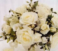 bridal bouquets white and champagne colors | ivory wedding bouquets 300x264 Ivory wedding bouquets New York