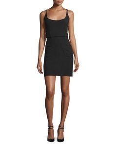 TOM FORD Sleeveless Belted Sheath Dress, Black. #tomford #cloth #