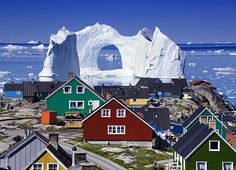 The Ilulissat Icefjord, a narrow inlet of sea between cliffs in western Greenland, contains one of the largest and most active glaciers in the world named Sermeq Kujalleq. The glacier can move up to 115 feet per day, resulting in 20 billion tons of chipped off icebergs, like the one in...