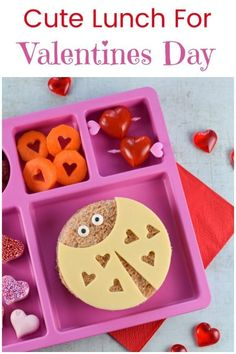 Cute Valentines Day lunch for kids with fun Love Bug sandwiches with video tutorial - fun and healthy Valentines food for kids Super Healthy Recipes, Easy Healthy Dinners, Easy Dinner Recipes, Valentines Day Food, Valentines For Kids, Healthy Cat Treats, Healthy Kids, Cute Food, Good Food