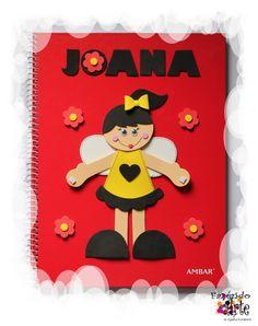 Caderno Decorado e Personalizado - Joana