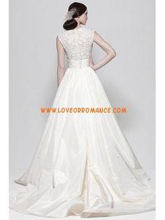 Top Fashion V-neck Princess Lace Taffeta Designer Wedding Dress 2013