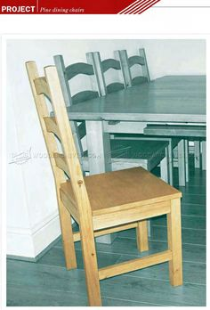 328 Pine Dining Chair Plans