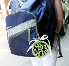 Lilly Pulitzer Monogrammed Acrylic Bag Tag - GirlyTwirly.com