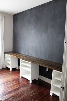 double office desk. kids area chalkboard wall u0026 desks diy long double desk icing onu2026 office