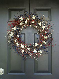 Memorial Day Wreath Fourth of July Wreath by ElegantWreath on Etsy