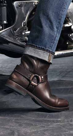 Biker Boots Outfit, Mens Biker Boots, Motorcycle Boots, Frye Harness Boots, Frye Boots, Chippewa Boots, Mens Boots Fashion, Leather Ankle Boots, Chelsea Boots