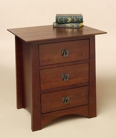 This beautifully crafted chestnut three drawer nightstand is the perfect addition to any bedroom. The three drawers provide ample space for storage, while the deep chestnut colored wood finish gives a contemporary accent to any decor.