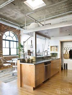 Beau Via: Atlanta Homes + Lifestyles Loft Kitchen