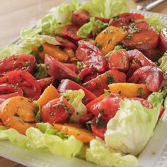 Marinated Vegetables, Marinated Tomatoes, Vegetable Sides, Vegetable Salad, Great Salad Recipes, Yummy Recipes, Free Recipes, Healthy Cooking, Cooking Recipes