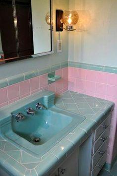 Vintage bathroom. 1956 home Bethlehem, PA.