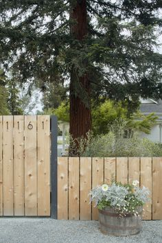 Redwood greets visitors to Sonoma property, designed by Terremoto.