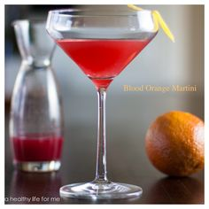 Blood Orange Martini   ~~~~   Ingredients: 2 oz Vodka (I used Kettle One) + 1 oz freshly squeezed Blood-Orange juice + ½ oz Campari + Lemon wedge.   Instructions: In a martini shaker filled with fresh ice add ingredients and shake to chill. Pour in martini glass, add lemon wedge, sip and enjoy!