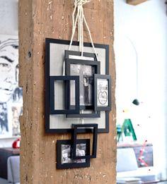DIY Composition of frames - Compositie van lijsten. Verzamelplek voor foto's tekeningen en kaarten. Kijk op www.101woonideeen.nl