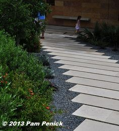 Poured concrete strips set in gravel. Gardens on Tour 2013: Bonnell Garden | Digging