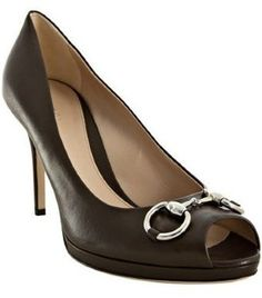 Gucci cocoa leather 'New Hollywood' platform pumps (High)