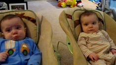Adorable twins cry when parents sing somewhere over the rainbow, and stop crying when they sing the itsy bitsy spider.