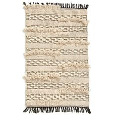 Levtex 'Moroccan Wedding' Woven Rug ($49) ❤ liked on Polyvore featuring home, rugs, tan, striped rug, striped cotton rugs, striped area rug, cotton rugs and stripe rug