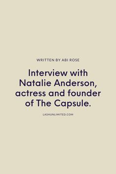We caught up with Natalie to chat about the importance of well being, how makeup artists can make performers more comfortable and why everyone needs at least five notebooks.