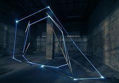 #blue #installation #light #geometry  VACANT